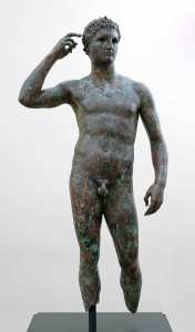 Statue of a Victorious Youth, 300-100 BC. Photo: J. Paul Getty Museum, Villa Collection, Malibu, California.